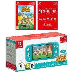 Console Nintendo Switch Lite Turquesa + Animal Crossing: New Horizons  + E-Shop 3 meses (Eur)