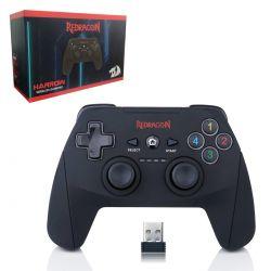 Controle Wireless Redragon Harrow  G808 Preto Fosco/Vermelho - PC/PS3