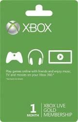 Microsoft Live Gold Card 1 Mês - Live Brasil - Xbox 360 e Xbox One