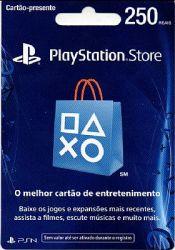 Cartão PSN R$ 250 - Playstation Network Store - Brasil