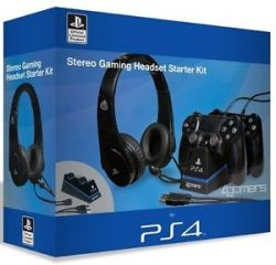 Kit Starter p/ PS4 Headset + Carregador Duplo