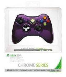 Controle Wireless Chrome Series Roxo Microsoft - Xbox 360