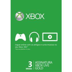 Microsoft Live Gold Card 3 Meses - Live Brasil - Xbox 360 e Xbox One