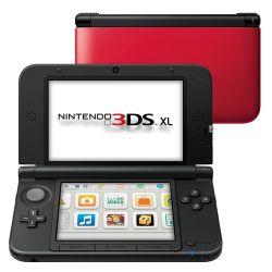 Console Nintendo 3DS XL Vermelho - Seminovo