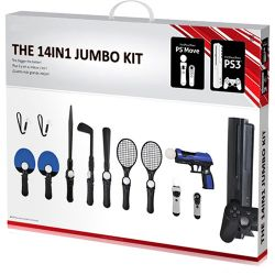 Kit Jumbo 14 em 1 Tech Leader para Playstation Move - PS3